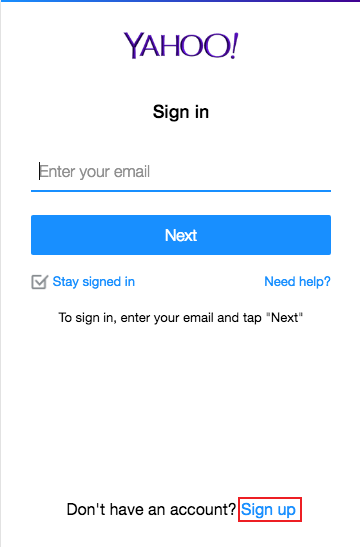 ymail registration