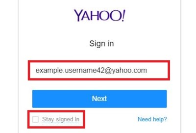 Yahoo email sign in