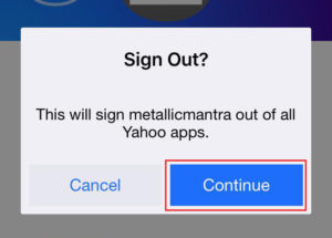 yahoo mail sign out