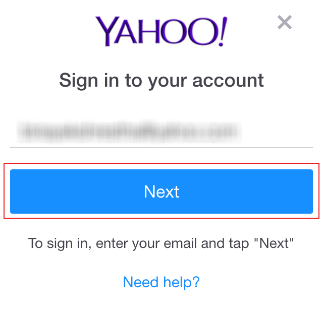 ymail account login