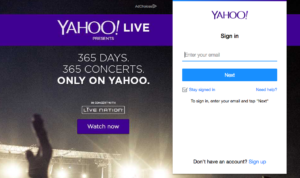 sign in to yahoo mail