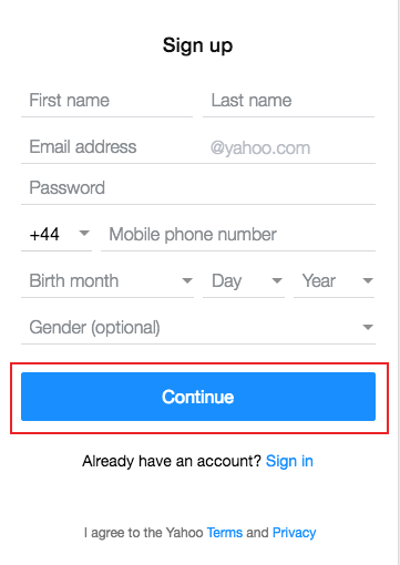 yahoo mail uk