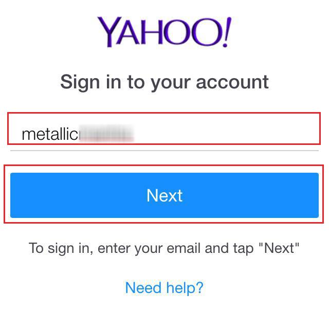 Yahoo Password Recovery