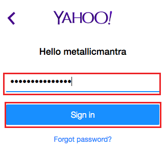 open my yahoo mail