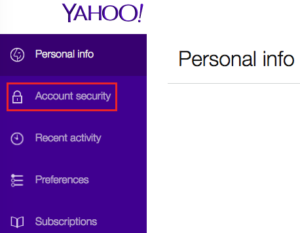 change password yahoo mail