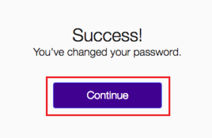 reset yahoo password