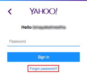 Yahoo Password Recovery