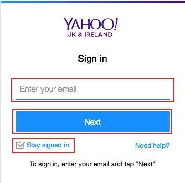 ymail login uk