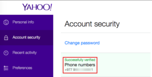 yahoo account security